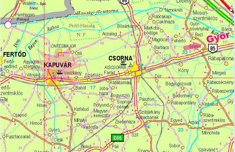 kapuvár térkép Rábaközi Nemzetközi Néptánctábor 2006 július 17   23   Kapuvár